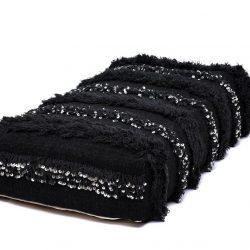 Handira Wedding Floor Pillow Pouf - Black