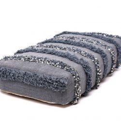 Handira Wedding Floor Pillow Pouf - Grey