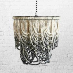 Mud Clay Bead Chandelier Romatic Swag Ombre grays kanju 2019