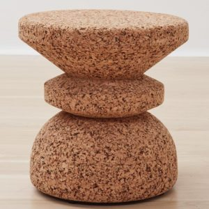 African Cork Stool - Stacked
