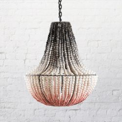 klaylife clay beaded chandelier_modern chandelier_LIM blush pink ombre